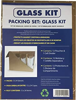 uBoxes Glass Divider Kit, 12 Pouches with 1 Box Cell Divider (GLASSPACK012)