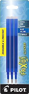 Pilot FriXion Gel Ink Pen Refill, 3-Pack for Erasable Pens, Extra Fine Point, Blue Ink (77351)