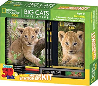 National Geographic Big Cats Initiative African Lion Super 3d Stationery Sets