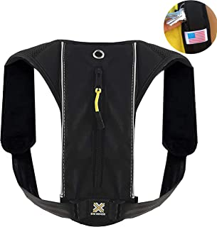 Running Mini Backpack for Phone, Size XS-S-M, Minimalist Running Pack for Men and Women, Holds Accessories and Any iPhone, Android Phone, Lightweight, Adjustable Gear for Fitness, Walking. EXOARMOR