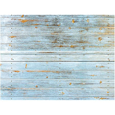HD 5x7ft Blue Wooden Planks Striped Wall Background Photo Booth Backdrop Props HXME607