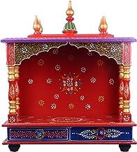 INDICART Art and Craft Wooden Temple/Home Temple/Pooja Mandir/Pooja Mandap/Temple for Home