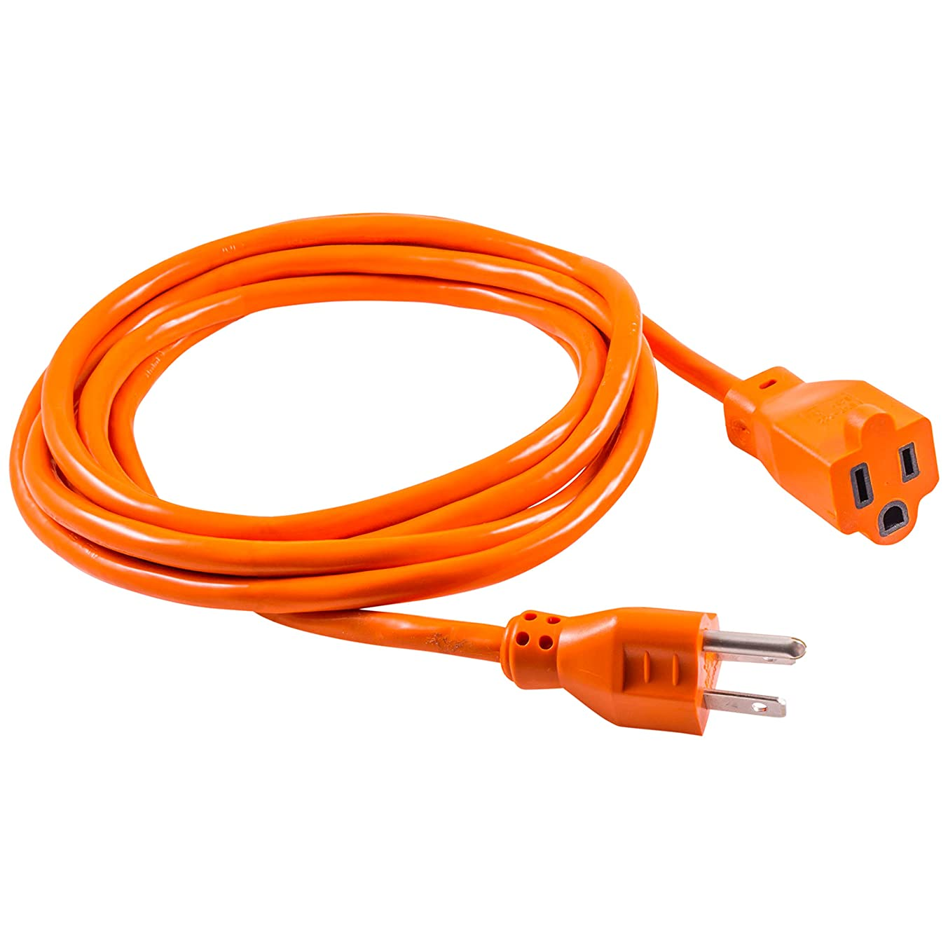 GE 9ft Extension Cord, Heavy Duty, 16AWG, Indoor / Outdoor Use, Extra Long Power Cord, UL Listed, Orange, 51927