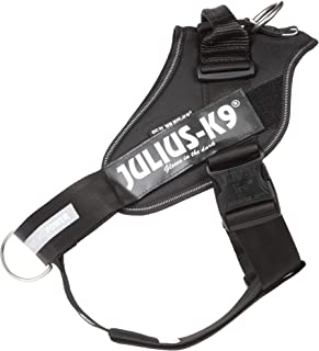 Julius-K9 IDC Powerharness, Dog Harness with Front Control Y-Belt, Size: 2, Black