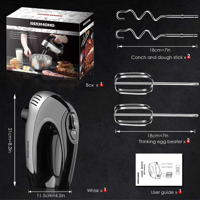 REDMOND Hand Mixers Electric Upgrade 5-Speed 300W Power Hand Mixer ...