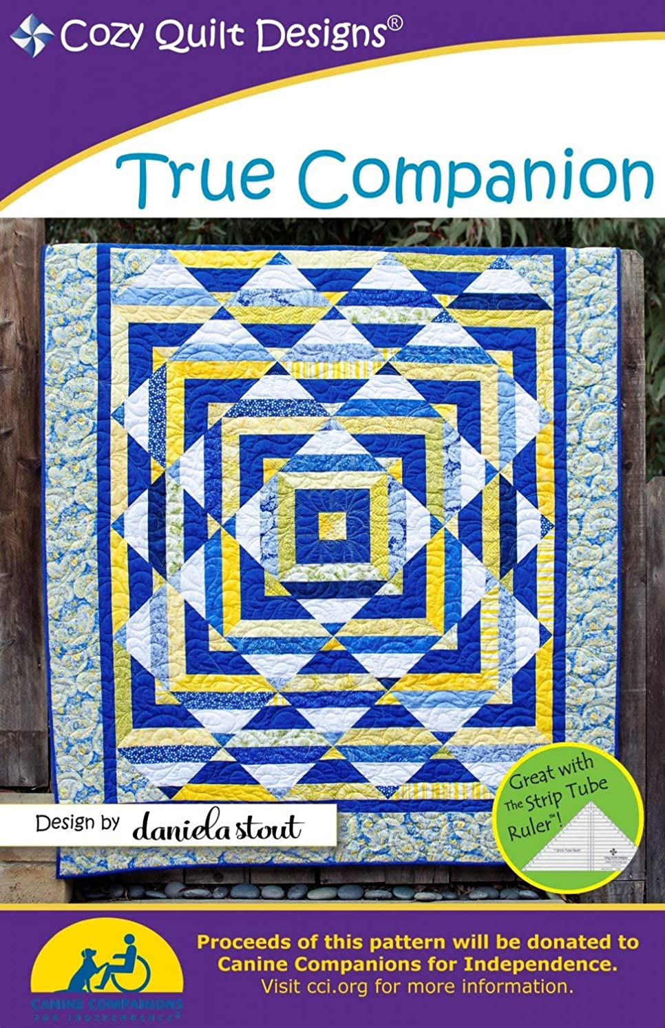 True Companion Quilt Pattern, Jelly Roll, Bali Pop, 2.5
