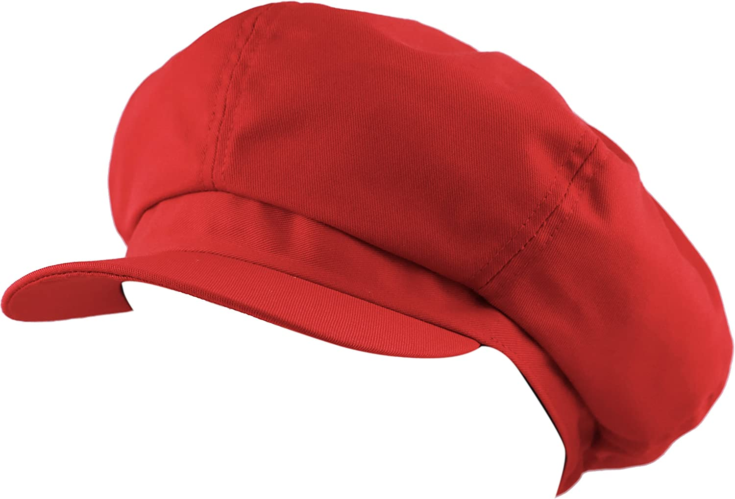 The Hat Depot Exclusive Cotton Newsboy Gatsby Applejack Cabbie Plain Hat Made in USA