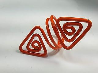 Ronds de serviette,orange.Modele Azimut