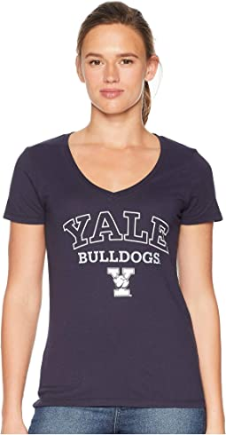 Yale Bulldogs University V-Neck Tee