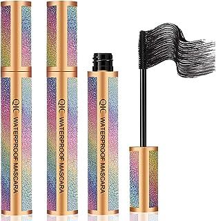 4D Silk Fiber Lash Mascara,Waterproof Mascara,Blackest black,Lash Mascara With Longer and Thicker Eyelashes,Smudge-Proof,V...