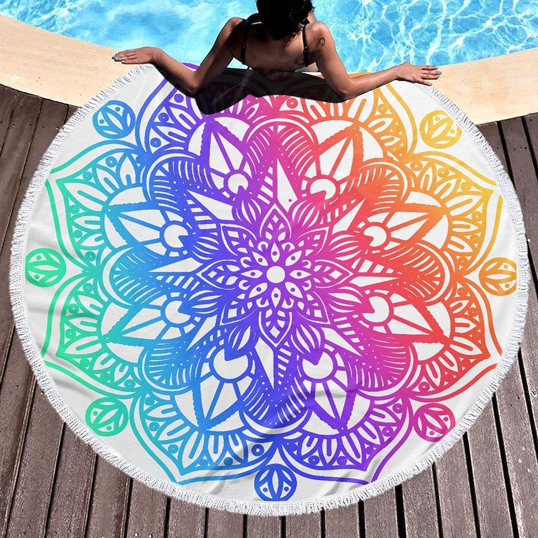 Bohemian Colourmicrofiber Genuine Free Shipping Round Indefinitely Large Plush Blanket Beach Towel