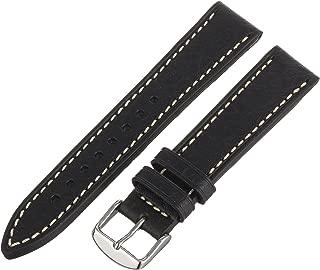 Hadley-Roma Men's MSM894RA-200 20mm Black Genuine Leather Watch Strap