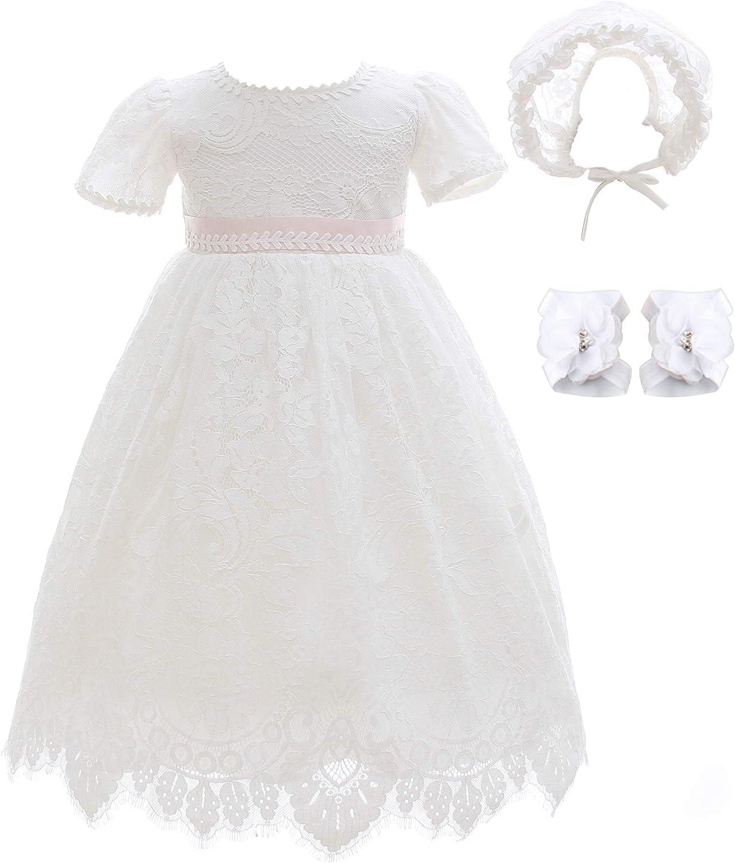 Xangirl Baby Girls Christening Baptism Dress Flower Embroidered