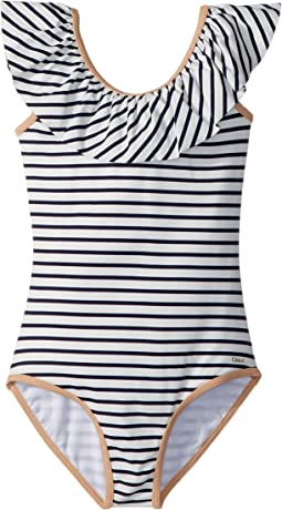 Chloe Kids - Striped One-Piece Swimsuit (Little Kids/Big Kids)