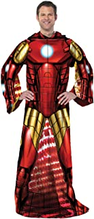 "Marvel's Spider-Man, ""Spider Up"" Adult Comfy Throw Blanket with Sleeves, 48"" x 71"", Multi Color"