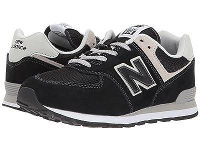 New Balance Kids GC574v1 (Big Kid) (Black/Grey) Boys Shoes