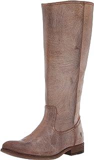 حذاء برقبة طويلة للركبة بسحاب من الداخل للنساء من FRYE، بني داكن ممتد، 8. 5 M US