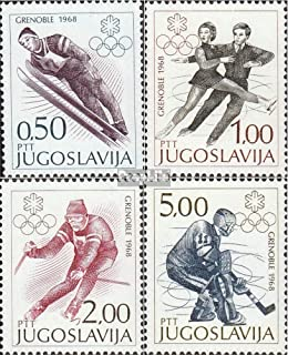 Yugoslavia 1262-1265 (Complete.Issue.) 1968 Olympics Winter Games (Stamps for Collectors) Winter Sports