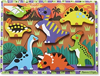 Melissa & Doug Dinosaurs Chunky Puzzle | Puzzles | Wooden Toy | 2+ | Gift for Boy or Girl