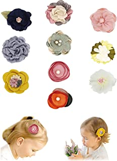 Baby Girl Hair Clips Bows Flowers,10 Pack Hair Accessories for Girls Toddler Gifts by FANCY CLOUDS