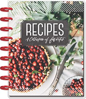 """Me & My Big Ideas PLNT-07 7.75"""" x 9.75"""" Recipes Collection of Favorites Happy 12-Month Undated Medium Planner, Multicolor"""