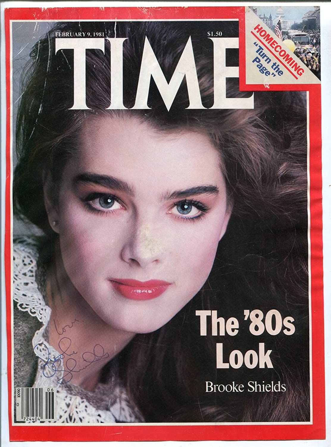 Price reduction Brooke Shields - Autographed Cover-Time Magazine- 1981-Cov 9 Feb Cheap mail order shopping