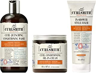 Curlsmith - Coily Wash Day Bundle, Including Curl Quenching Conditioning Wash, Curl Conditioning Oil In Cream & In-Shower ...