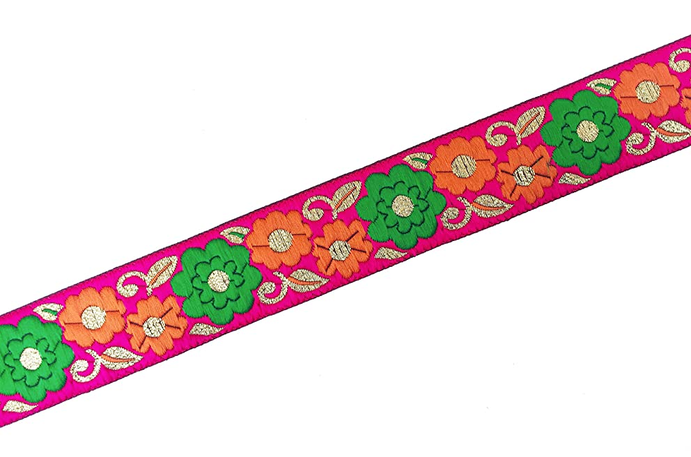 multicolor floral jacquard lace 3 yards by craftbot