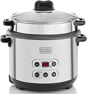 Black+Decker 1.8L 3-in-1 Smart Cooker for Cooking Boiling and Steaming, Silver - RPC1800-B5, 2 Years Warranty