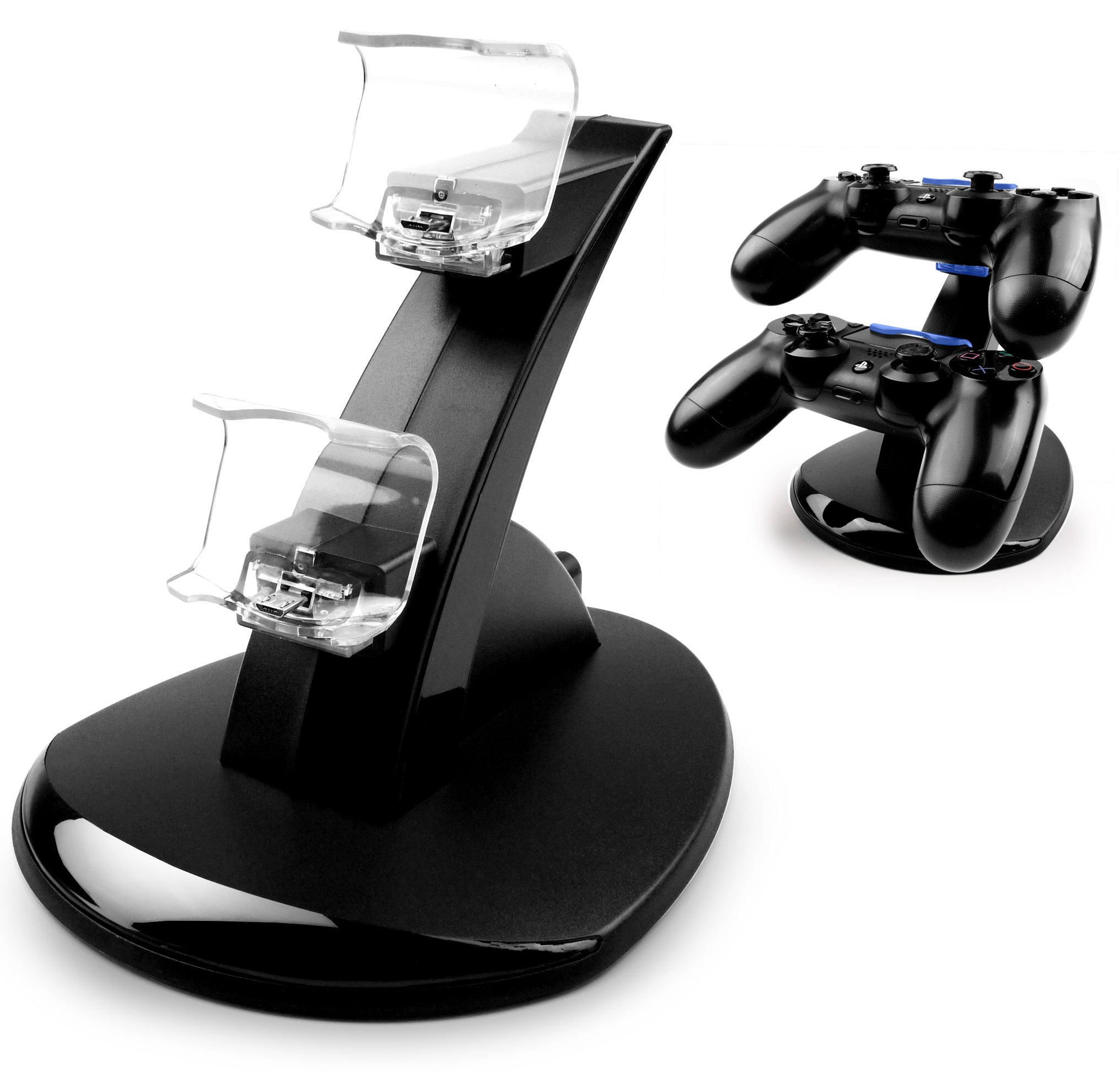 MyGadget PS4 Estación de Carga para 2x Control Sony PlayStation 4 Dualshock - LED Dual Docking station de Cargado y Soporte de Mandos Estándar: Amazon.es: Electrónica