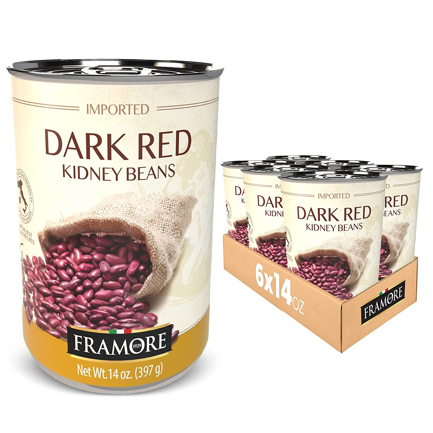 FRAMORE 2021 Canned Dark Red Kidney Max 83% OFF Imported Gourmet Authent Beans