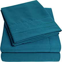 1500 Supreme Collection Extra Soft Twin Sheets Set, Teal - Luxury Bed Sheets Set with Deep Pocket Wrinkle Free Hypoallerge...