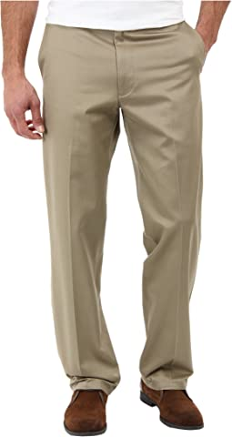 Signature Khaki D2 Straight Fit Flat Front