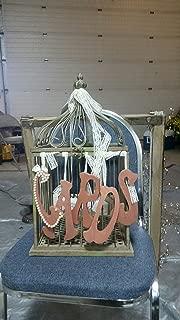 Wedding Star 9117 Modern Decorative Birdcage with Birds in Flight