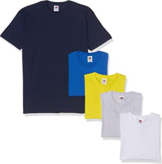 Fruit of the Loom Valueweight Short Sleeve T-Shirt (Pacco da 5) Uomo