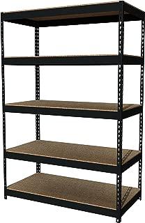 Office Dimensions Riveted Steel Shelving 5-Shelf Unit, 48