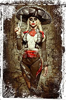 El Mariachi Muerte by Daveed Benito Cool Wall Decor Art Print Poster 24x36
