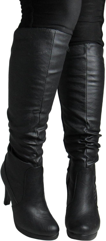 Top Moda Womens Win-40 Black Boots 7 D(M) US