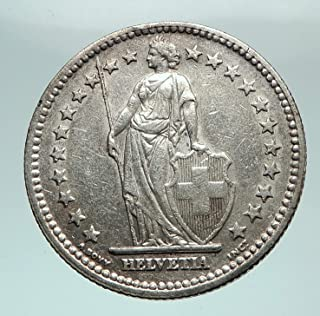 1946 CH 1946 SWITZERLAND - SILVER 2 Francs Coin HELVETIA coin Good Uncertified