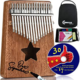 $27 Get Kalimba 17 Key Thumb Piano - Musical instruments for adults and kids with all accessories, free music e-book and play along videos - Best relaxation gifts