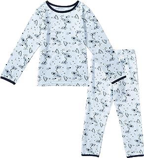 Conjunto de Pijama Algodón Ropa de Dormir Termica Invierno Otoño Primavera Pijama Animales de Manga Larga Camisetas y Pant...