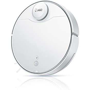 360 S9 Robot Vacuum and Mop, Ultrasonic & LiDAR Dual-Eye, Laser Mapping, 2200 Pa, Low Noise Design, 180 mins Running Time, Intelligent Water Tank, No-Go Zones, Compatible with Alexa
