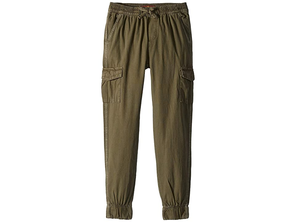 Image of 7 For All Mankind Kids Cargo Canvas Jogger Pants (Big Kids) (Olive) Boy's Casual Pants