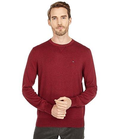 Tommy Hilfiger Signature Solid Crew Neck Sweater (Biking Red Heather/Rhododendron Heather) Men