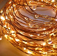 Quace Copper String Led Light 10M 100 LED Battery Operated Wire Decorative Fairy Lights Diwali Christmas Festival - Warm W...