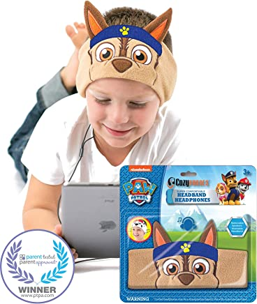 Paw Patrol Kids Headphones by CozyPhones - Volume Limited with Ultra-Thin Speakers & Super Comfortable Soft Headband - Perfect Toddlers & Children's Earphones for School, Home & Travel – Chase