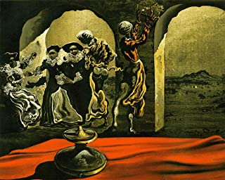 Gifts Delight Laminated 17x14 Poster: Salvador Dali - Pin Dali Art Painting