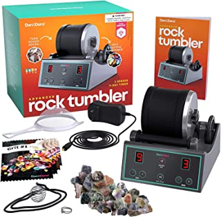 Advanced Professional Rock Tumbler Kit – with Digital 9-day Polishing timer & 3..