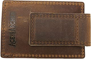 Ace And Archer Clip Wallet for Men, Leather - Brown, (AA1069)