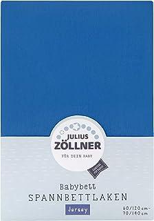Julius Zöllner Drap housse Jersery lit enfant, Taille: 60 x 120 cm & 70 x 140 cm, Couleur: bleu